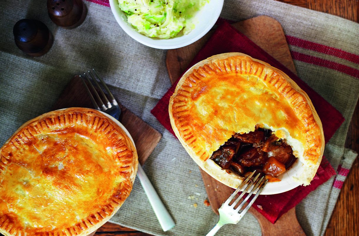 SW recipe: steak and Guinness pies with sprout mash