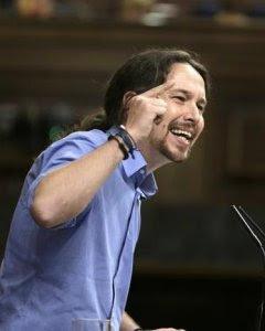 Pablo Iglesias durante su primera intervención en el debate de investidura.- REUTERS