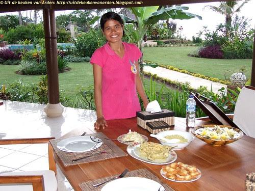 Sinta, onze kokkin op Bali