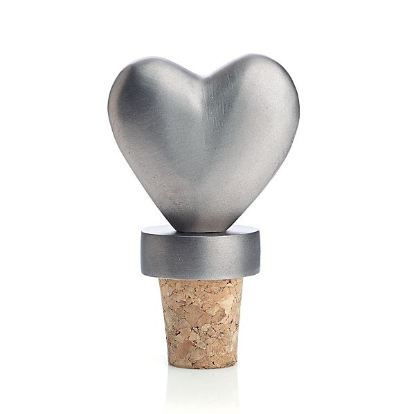 Heart Bottle Stopper | Crate & Barrel