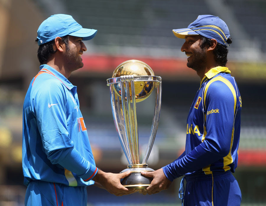 The two captains contesting the final flank the World Cup
