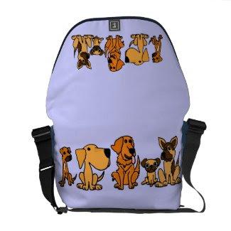 AJ- Funny Puppy Dogs Messenger Bag