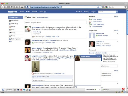 Old Facebook home page