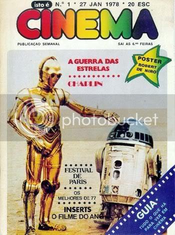 Capa do primeiro número de Isto é Cinema, de 27 de Janeiro de 1978 * Image hosted by Photobucket.com
