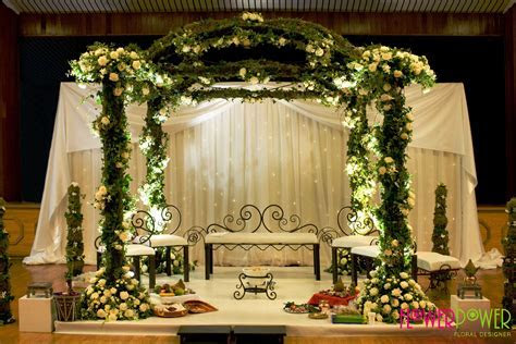 Another of Flower Power's beautiful floral mandap designs
