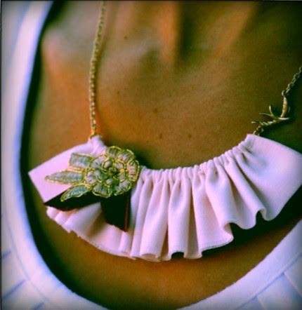 orangepoppy ruffle necklace