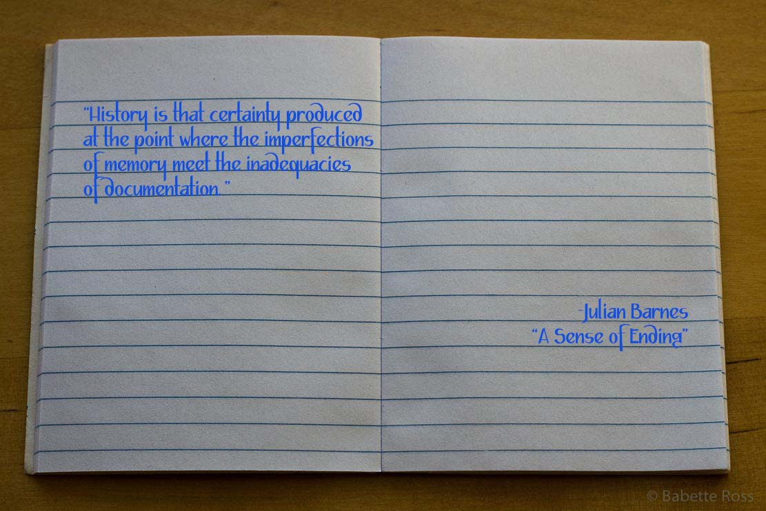 Quotes Notebook A Sense Of Ending In This Space