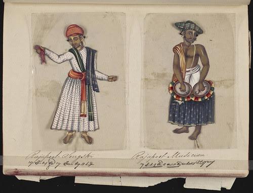 Rajapoot songster - Rajapoot musician, Madura, 1837