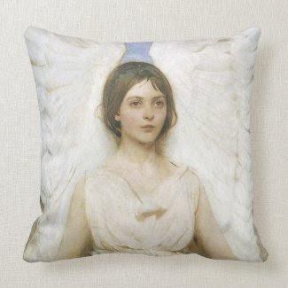 Angel by Abbott Thayer throwpillow