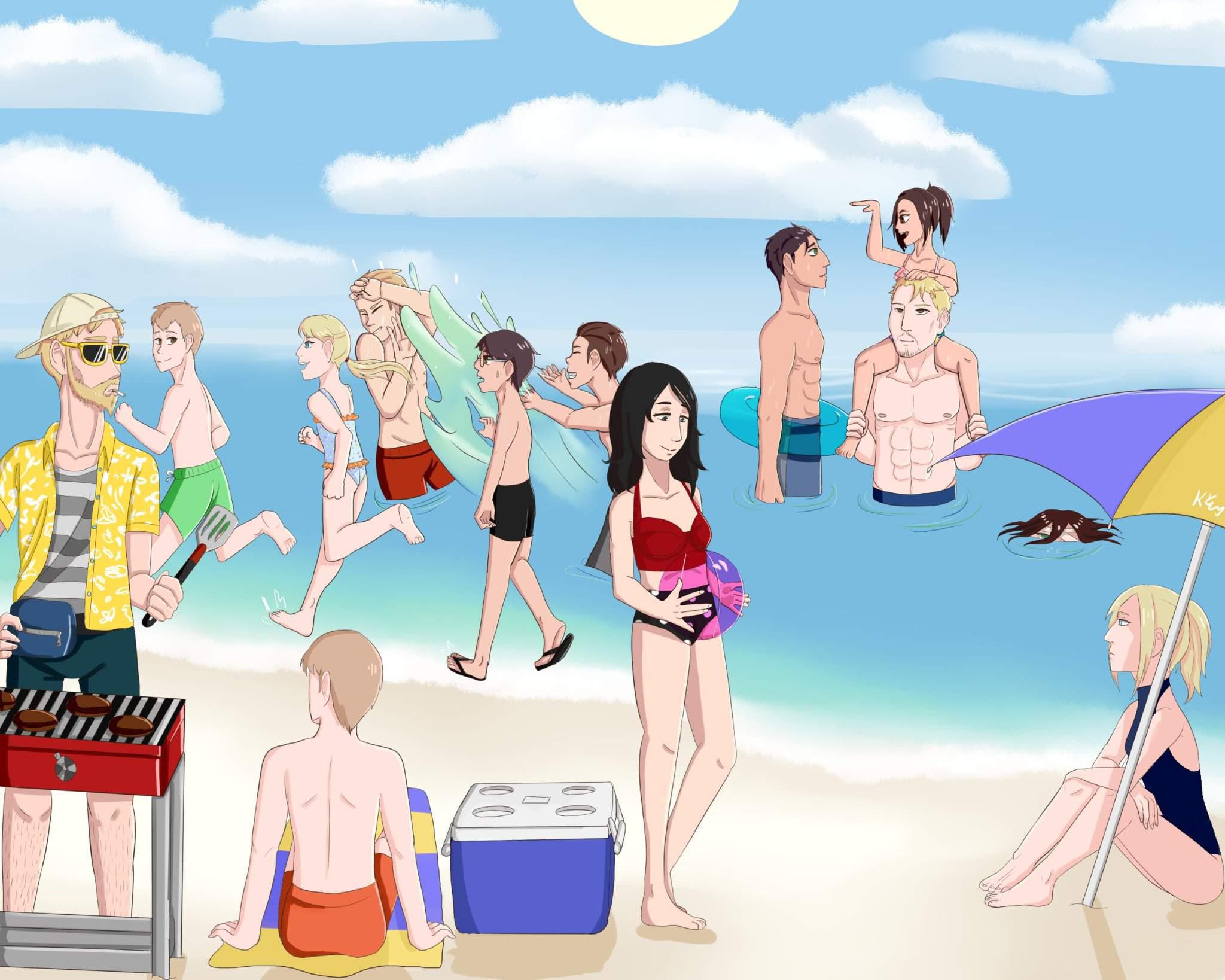 Marley Beach Party Attack On Titan Amino