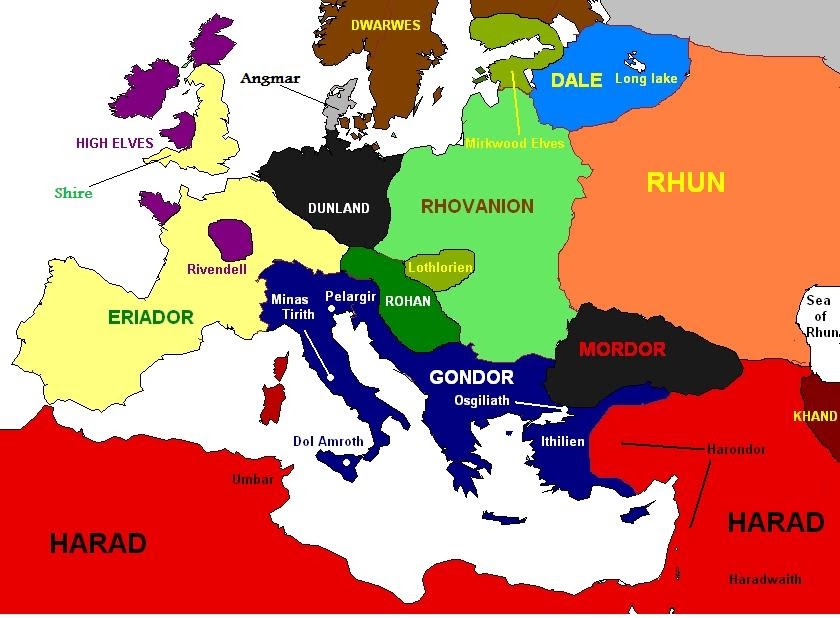 Risultati immagini per europe as middle earth