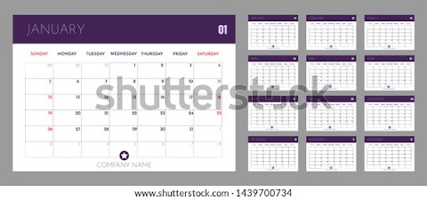 2020 Calendar Template Office
