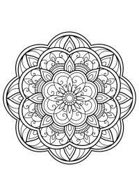 Coloriage Imprimer Gratuit Mandala Coloriages Gratuits A
