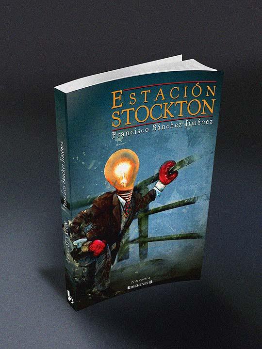 Ilustración y diseño de carátula. Estación Stockton por Hache Holguín