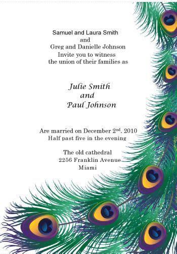 A Peacock Wedding Theme. A Royal Wedding with a Unique Theme