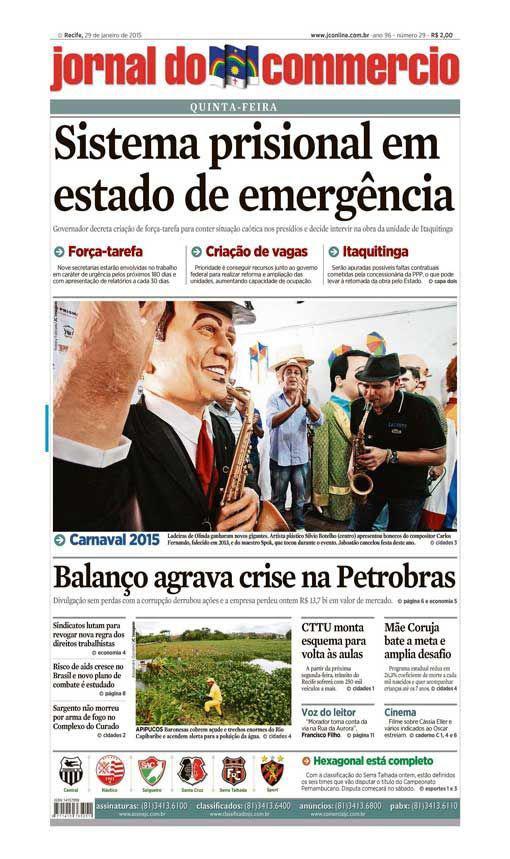Capa do Jornal - 29/01/2015