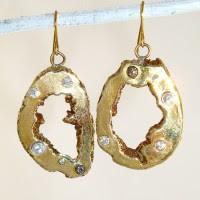 Cast Geode Earrings
