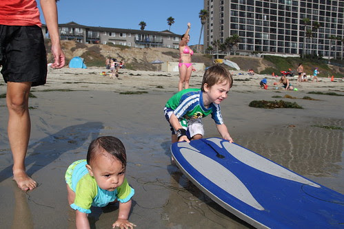 Boogie boy and beach baby