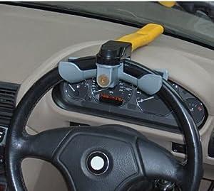 Heavy Duty Yellow Car Security Rotary Steering Wheel Lock