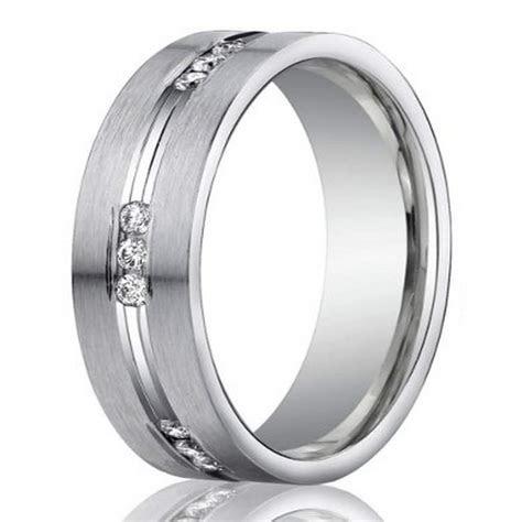6mm Men?s 950 Platinum Channel Set Diamond Wedding Ring