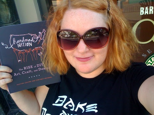 Jenny Ryan with her copy of Handmade Nation she picked up today at Barns & Noble!!