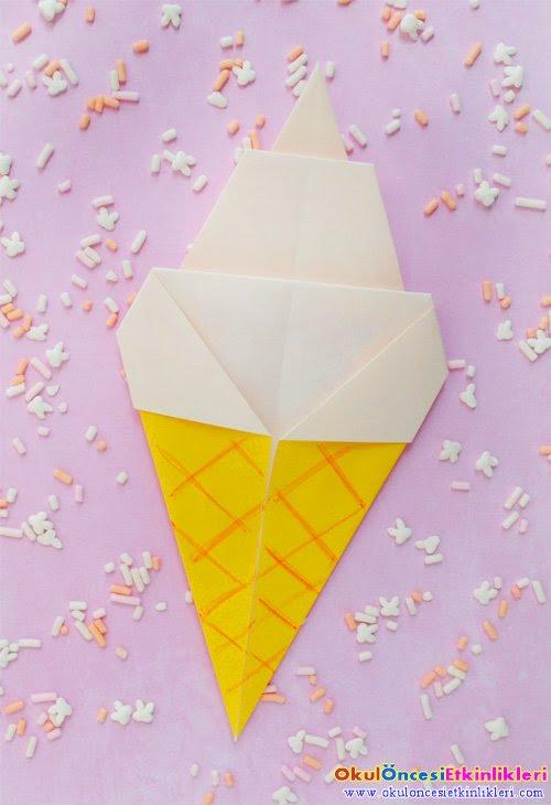 Origami Sanatı Ile Külahta Dondurma Yapalım Okul öncesi