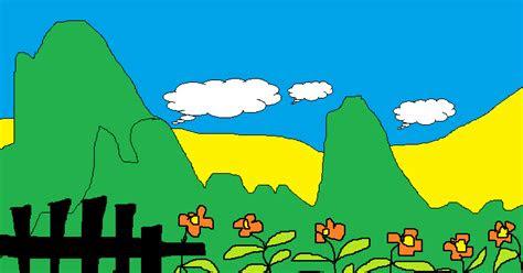 contoh gambar lukisan pemandangan contoh