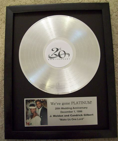 Platinum/Silver Plated LP Trophy