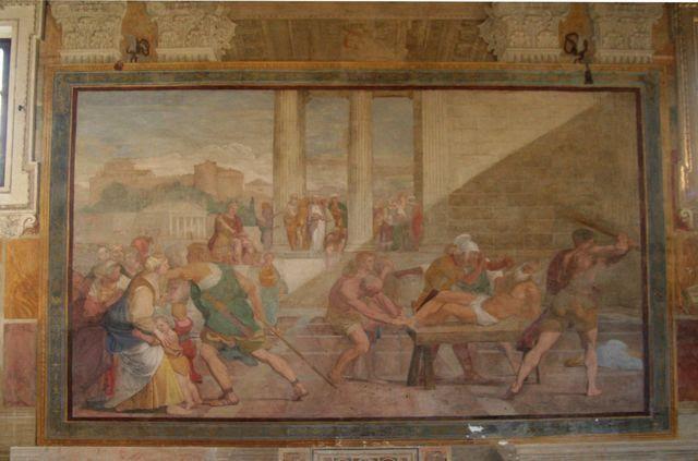 S. Gregorio al Celio, oratorium di S. Andrea: Flagellazione di S. Andrea del Domenichino (1608)