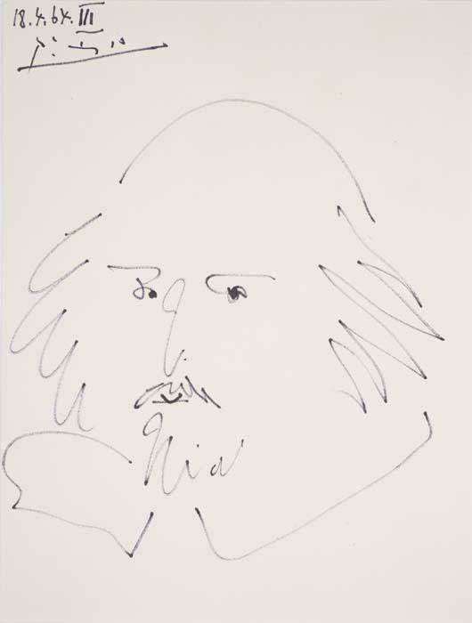 William Shakespeare Portrait, 1964 by Pablo Picasso
