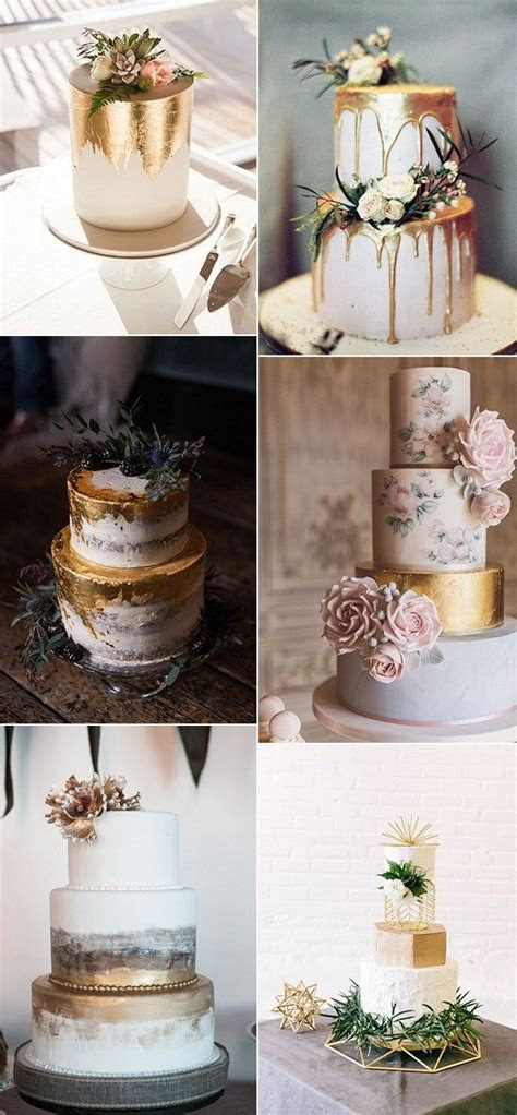 Trending 15 Creative Metallic Wedding Cakes for 2018
