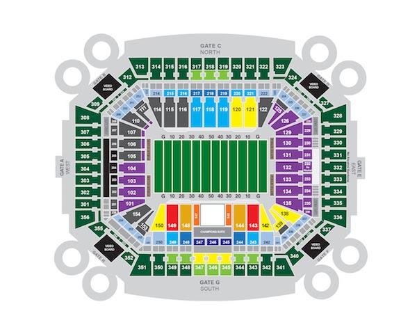 miami dolphins hard rock stadium map