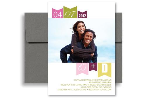 Stylish Design Template Wedding Invitation Ideas 5x7 in Vertical