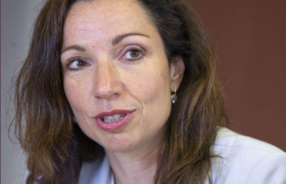 Martine Ouellet était de passage dans les bureaux du «Devoir» jeudi.