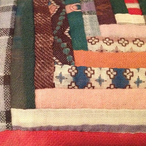 log cabin. #quilt #patchwork