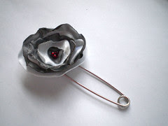 Singed Rose Pin