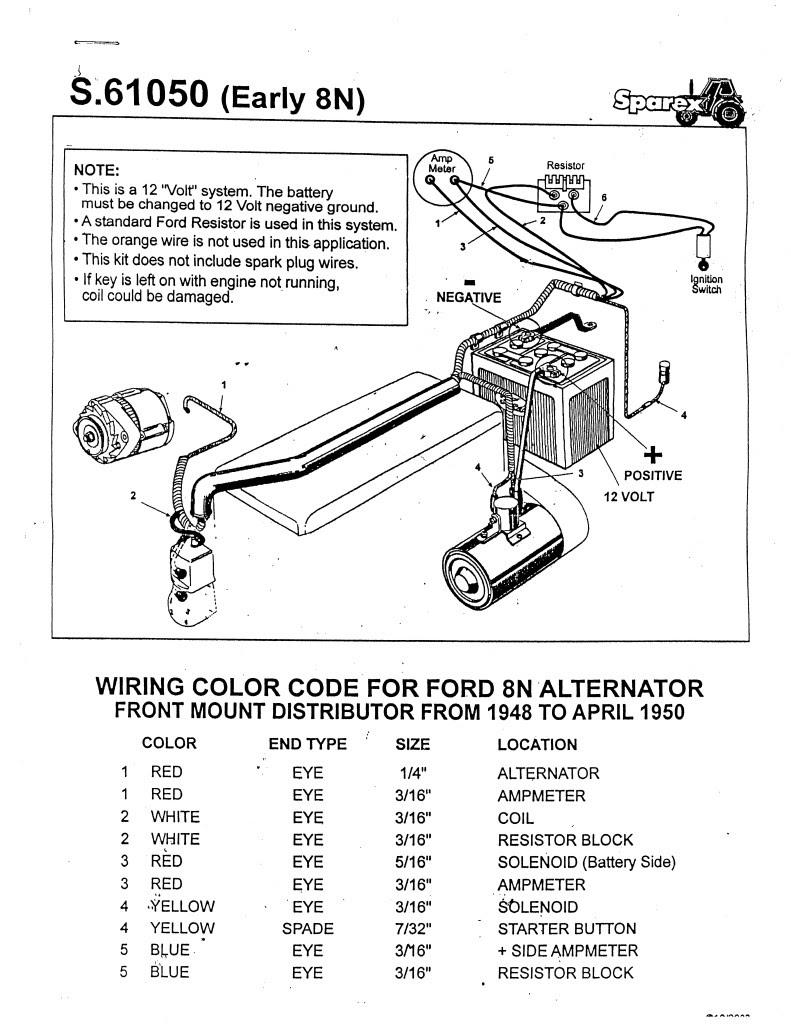 Alternator Wiring Diagram Ford Tractor - Wiring Diagram ...