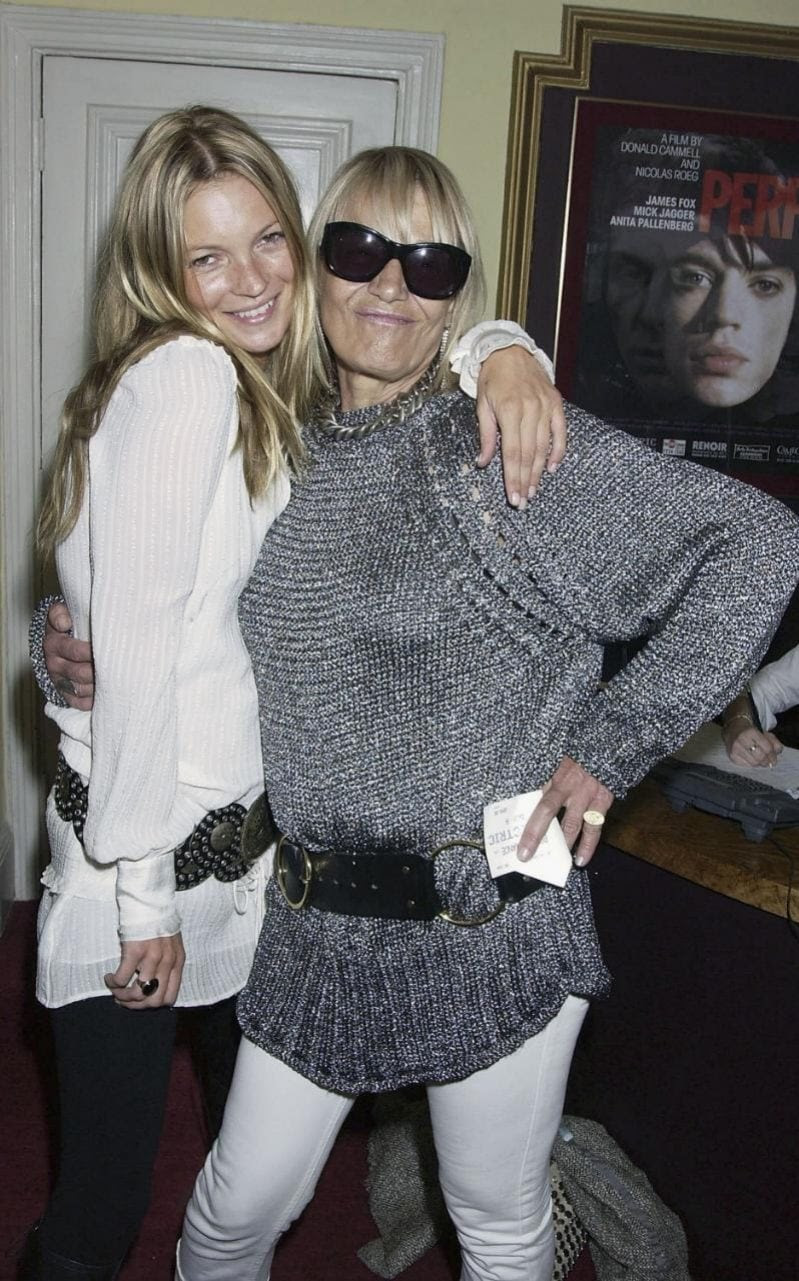 "Kate Moss and Anita Pallenberg at a private screening ""Performance"" in 2004"
