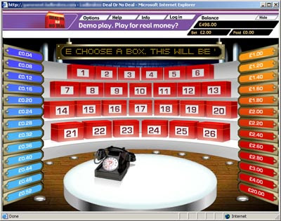 Deal Or No Deal Casino Game