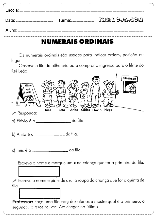 Atividades Matematica 2 Ano Para Imprimir Ensino Ja
