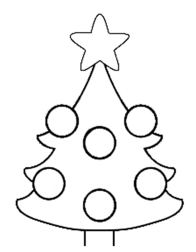 Stampa Disegno Di Albero Di Natale Da Colorare