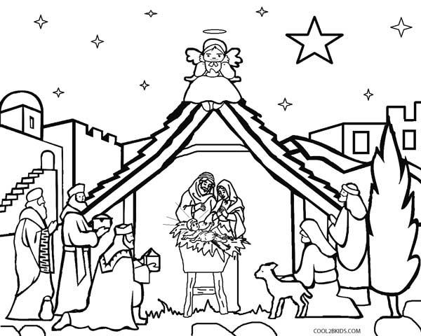 Printable Nativity Scene Coloring Pages For Kids Cool2bkids Jeffersonclan