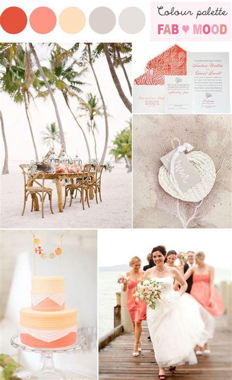 coral beach wedding colors