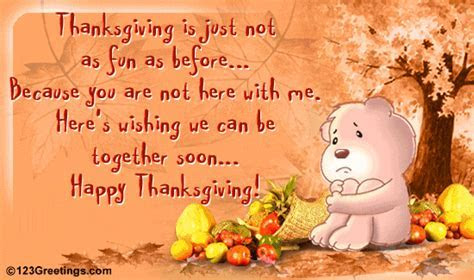 Missing Someone On Thanksgiving  Free Miss You eCards