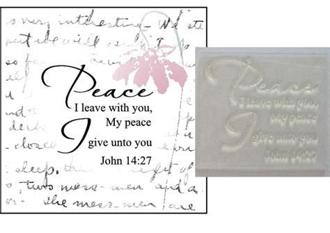Christian Bible verse stamp, Peace I leave with you John 14:27