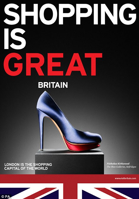 GREAT entertainment: The campaign aims to show off what's great about Britain - from music to shopping - and Downing Street has unveiled a series of postcards that promote these, which will be handed out at business events