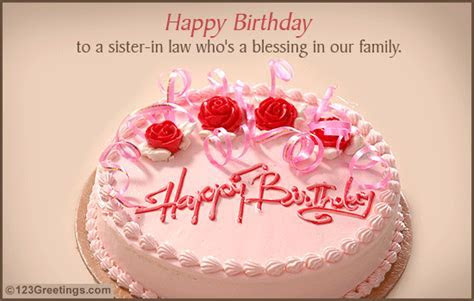 Happy B'day Sis in law! Free Extended Family eCards