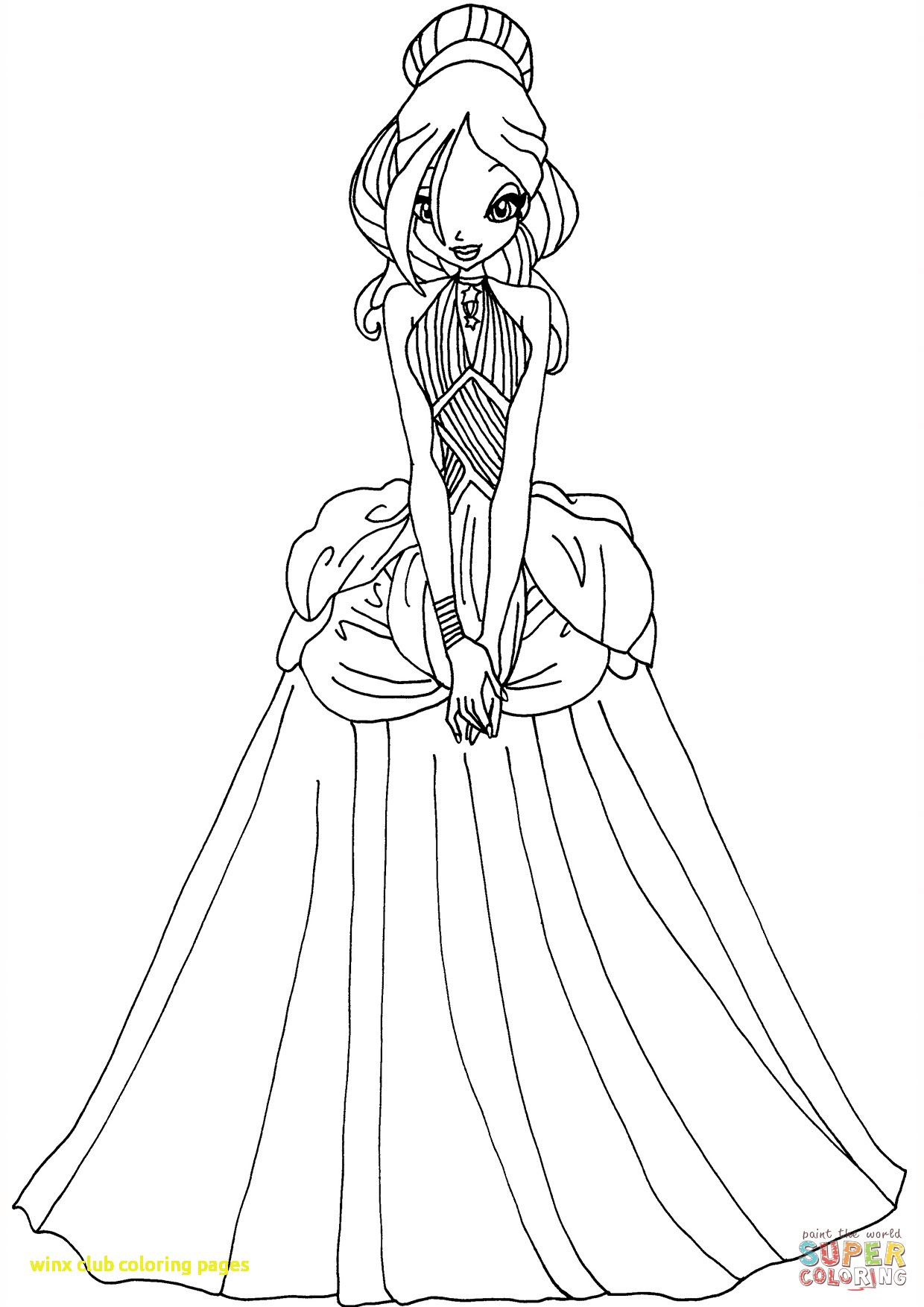 Winx Club Coloring Pages At Getdrawingscom Free For Personal Use
