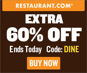 Restaurant.com Weekly Promo Offer 300 x 250