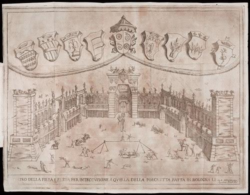 Relazione e disegno della fiera, e festa popolare della Porchetta fatta in Bologna questanno 1695